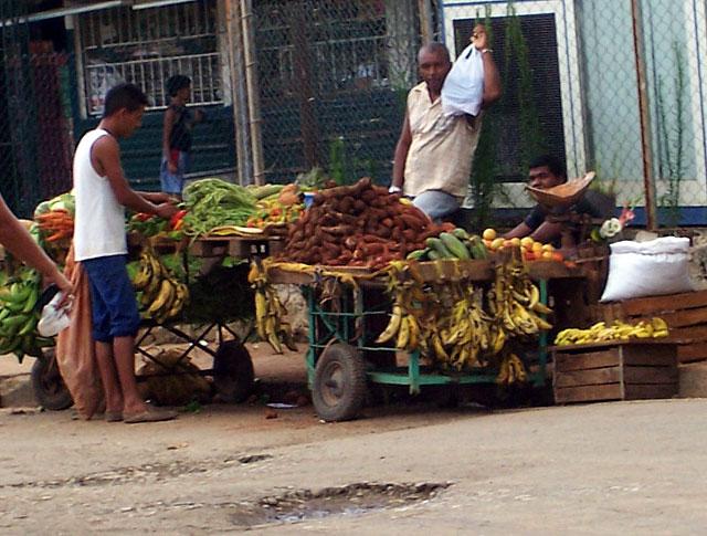 Carretillas en La Habana. Fotografía tomada de un sitio de Internet