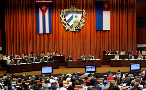 La Asamblea Nacional del Poder Popular en sesión